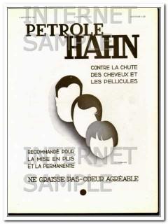 petrole hahn 1932 french oil care men women children hair vintage ad