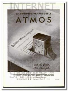 atmos la pendule perpetiulle art deco perpetual clock vintage ad