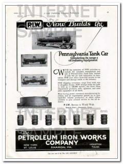 petroleum iron works company 1924 pennsylvania tank car vintage ad