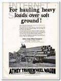 Athey Truss Wheel Company 1927 Vintage Ad Hauling Heavy Loads Tractor
