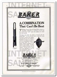 Baker Casing Shoe Company 1927 Vintage Ad Oil Combination Cant Be Beat