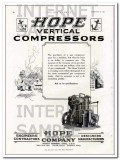 Hope Engineering Supply Company 1927 Vintage Ad Vertical Compressors
