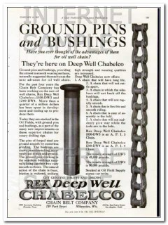 Chain Belt Company 1927 Vintage Ad Oil Well Chain Ground Pins Bushings