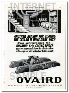 Bovaird Company 1927 Vintage Ad Another Reason Cellar Casing Spider