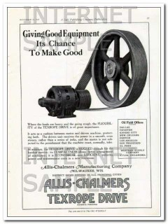 Allis-Chalmers Mfg Company 1927 Vintage Ad Oil Gas Good Equipment