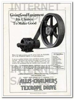 Allis-Chalmers Mfg Company 1927 Vintage Ad Oil Gas Good Equipment