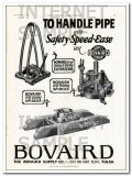 Bovaird Supply Company 1927 Vintage Ad Oil Handle Pipe Safety Speed