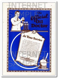 Petroleum Rectifying Company 1927 Vintage Ad Official Oil Doctor
