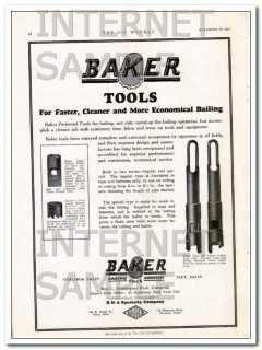Baker Casing Shoe Company 1927 Vintage Ad Oil Fast Clean Bailing Tools