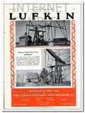 Lufkin Foundry Machine Company 1927 Vintage Ad Oil Texas Installations