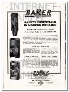 Baker Casing Shoe Company 1927 Vintage Ad Safety Essentials Drilling
