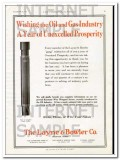 Layne Bowler Company 1927 Vintage Ad Oil Gas Industry Year Prosperity