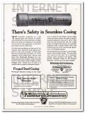 pittsburgh steel products company 1927 safe seamless casing vintage ad