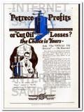 Petroleum Rectifying Company 1927 Vintage Ad Oil Petreco Profit Losses