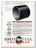 A O Smith Corp 1927 Vintage Ad Couplings Accurate Uniform Smithsteel