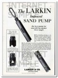 Larkin Company 1927 Vintage Ad Oil Field Sand Pump Improved Job Tough