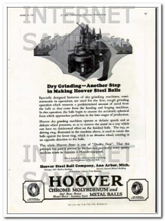 hoover steel ball company 1927 another step dry grinding vintage ad