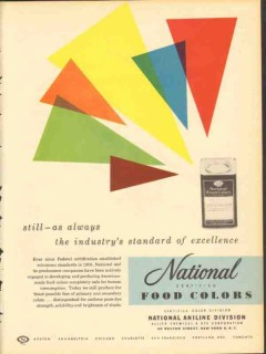 Allied Chemical Dye Corp 1951 Vintage Ad Ice Cream Food Color Standard