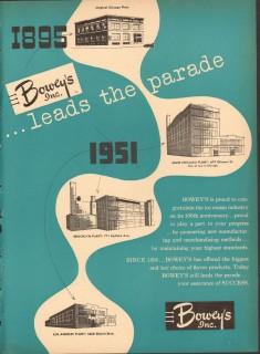 Boweys Inc 1951 Vintage Ad Ice Cream Flavor Products Leads Parade