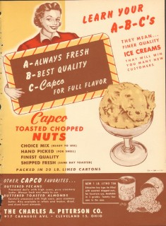 Charles A Peterson Company 1951 Vintage Ad Ice Cream Chopped Nuts
