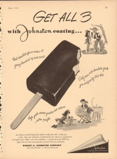 Robert A Johnston Company 1951 Vintage Ad Chocolate Coating Get All 3