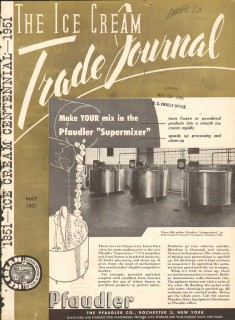 Pfaudler Company 1951 Vintage Ad Ice Cream Supermixer Make Your Mix
