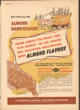 California Almond Growers Exchange 1951 Vintage Ad Ice Cream Bandwagon