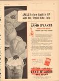 Land O Lakes 1951 Vintage Ad Ice Cream Nonfat Dry Milk Solids Sales