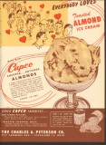Charles A Peterson Company 1951 Vintage Ad Ice Cream Toasted Almonds