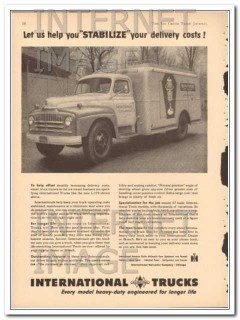International Harvester 1951 Vintage Ad Ice Cream Trucks Stabilize