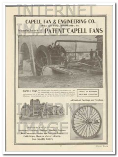 capell fan engineering company 1910 low speed ventilation vintage ad