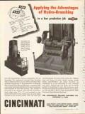 cincinnati milling machine company 1953 hydro-broaching vintage ad