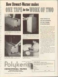 polyken industrial tape 1953 kendall company work of two vintage ad