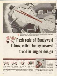 bundy tubing company 1953 newest design bundyweld push rods vintage ad