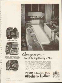 allegheny ludlum steel corp 1953 coming at you tool die vintage ad