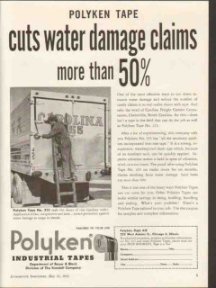 polyken industrial tape 1953 cuts water damage claims vintage ad