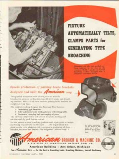 american broach machine company 1953 sundstrand tool tilts vintage ad