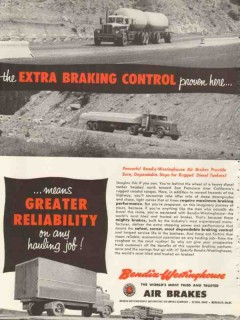 bendix-westinghouse air brake company 1953 breaking control vintage ad