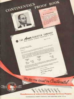 auer register company 1953 secretary re brumbaugh cleveland vintage ad