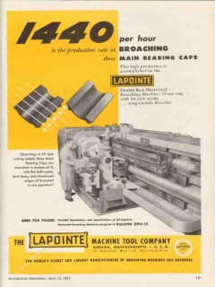 lapointe machine tool company 1953 production broaching vintage ad