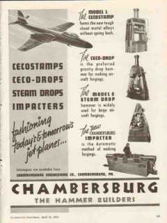 chambersburg engineering company 1953 tomorrow jet planes vintage ad