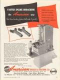 american broach machine company 1953 fast spline broaching vintage ad