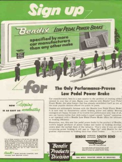bendix aviation corp 1953 sign up low pedal power brake vintage ad