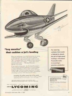lycoming 1953 boris artzybasheff leg muscles cushion jets vintage ad