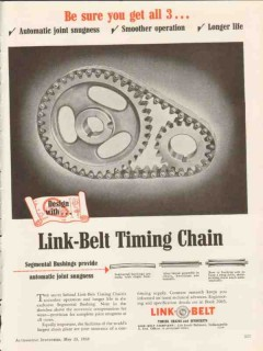 link-belt company 1953 be sure you get all 3 timing chain vintage ad