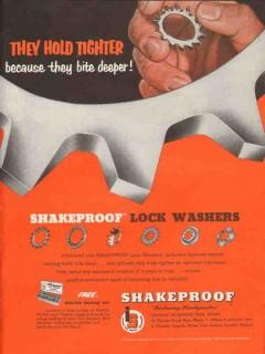 illinois tool works 1953 they hold shakerproof lock washers vintage ad