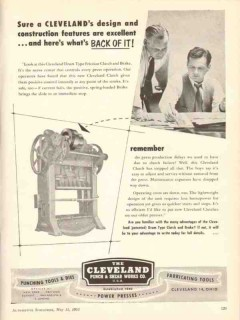cleveland punch shear works company 1953 design features vintage ad