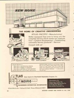 atlas-pacific engineering company 1946 new home of creative vintage ad