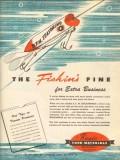 basic food materials 1946 the fishins fine bfm seasoning vintage ad
