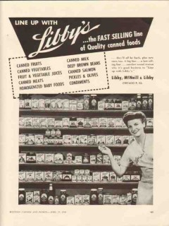 libby mcneill libby 1946 fast selling quality canned foods vintage ad